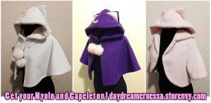 Handmade hoodies and capelets by daydreamernessa