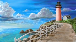 Lighthouse (daytime version) by brentdgrooms