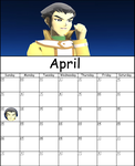 April Calendar 2015 by AskMMDYugi