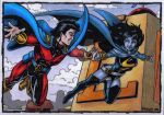 Mon-el and Umbra Sketch Cards by tonyperna