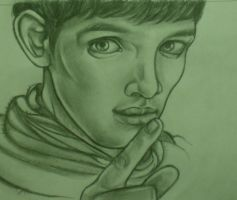 Colin Morgan as Merlin by perilousrealms