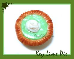 Key Lime Pie Magnet by HanaClayWorks