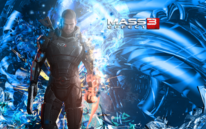 Male Shepard Wallpaper by DarkSol222