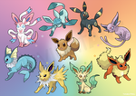 Eeveelution by AlouNea