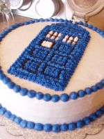 Tardis Cake by queen382