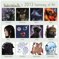 Redninetails Summary Of Art 2013 by redninetails