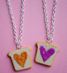Peanut Butter Jelly Necklaces- Angle 2 by ClayRunway