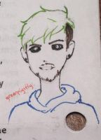 Antisepticeye Doodle by greenpigsfly