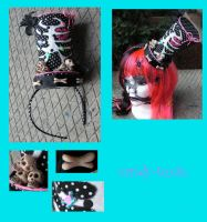 Dead by Dawn Mini Top Hat by Candy-Toxin