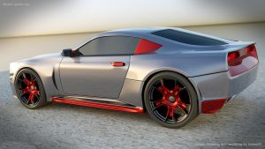 Stylish sports car rendering project 2 by koleos33