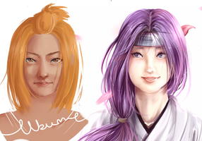Ubume and Nagisa realism by BayneezOne