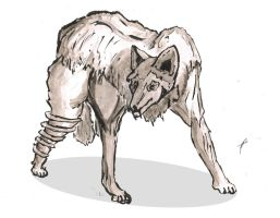 Snared Wolf by Br00dley
