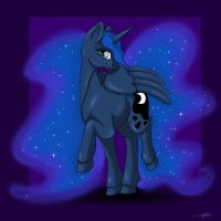 Princess Luna Commission by LilWolfStudios