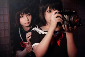 Mio and Mayu - Fatal frame II crimson butterfly by Link130890