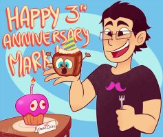 Happy 3rd Anniversary Mark! by gaby14link