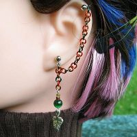 Autumn Leaf Earring by merigreenleaf