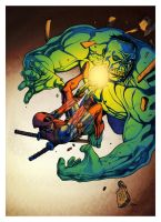 Deadpool vs Hulk v1 by RCarter