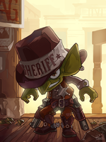 Commission - Sheriff Goblin by Skence