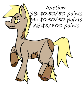 Scarecrow Pony Auction [OPEN] by HickatheDragon