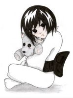 Little Aki and Doggy Plushie by Elsaaaa