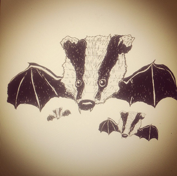 Badger Bat by gilzfoolzgold