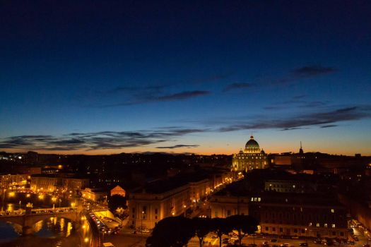 St. Peter's at Dusk by cjbroom