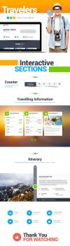 Travelers Landing Page Website by Saptarang