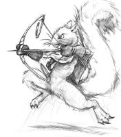 Squirrel Archer by runde