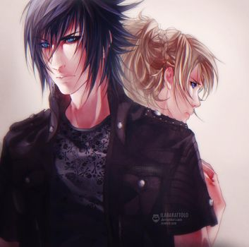 Noctis and Luna by ilaBarattolo