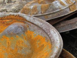 Gold, Rust, Bends and Pans by scentedglitter