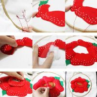 Tutorial_sewing Rafflesia felt flower by MikiNamuno