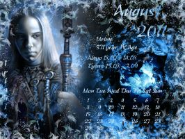 August 2011 desktop calendar by Lirulin-yirth