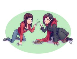 Mirror Mirror: Ruby and Lindsay by TheRogueSPiDER