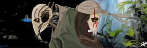 Grievous and Qymaen by Polyne55