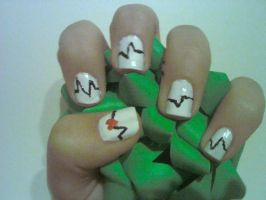 Heart Monitor Nail Design by Experimently-Bernsie
