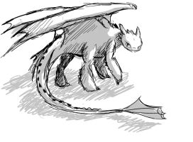 toothless sketch by little-ampharos