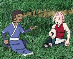 ATLAx Naruto:Katara and Sakura by SractheNinja
