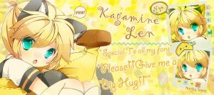 Big Hug for Kagamine Len by NorthyTears