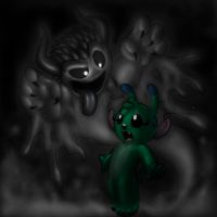 Sweetpea and the ghost Devil by Mickeymonster