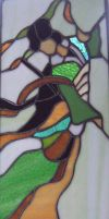 Stained Glass Geisha Girl Panel by houndhelper