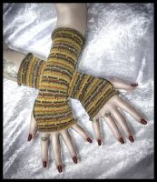The Doctor's Scarf Arm Warmers by ZenAndCoffee