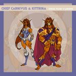 Chief Carnivus and Kittrina by thejason10