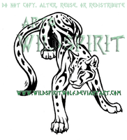 Tribal Leopard Tattoo Commish by WildSpiritWolf