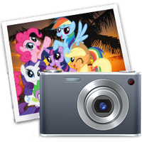 iPhoto icon - mane six by spikeslashrarity