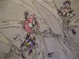 Wave, Amy and Blaze web peril by Levvvar
