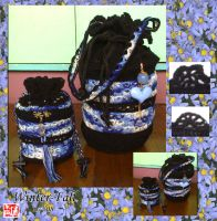 Black and Blue Bags Col. 1 by winter-fall