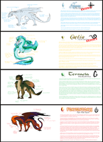Dragonstone Chronicles - The Four Dragon Clans by PurpleArtemis