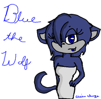 My OC- Blue the Wolf by Soulfire1123