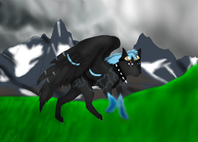 flying wolf by Emiliewolf