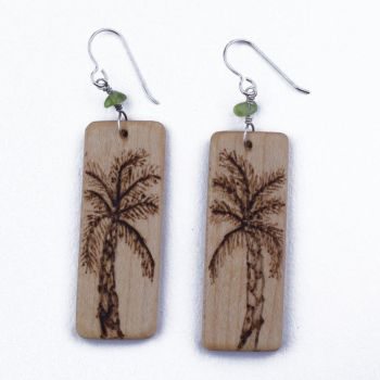 Palm Tree Earrings by WoodsyAccents